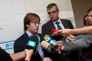 El presidente de Augas de Galicia, Francisco Menéndez, explicó la situación actual de las reservas.