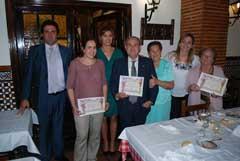 Se homenajeó a cuatro socios por cumplir 25 años como miembros de la entidad.