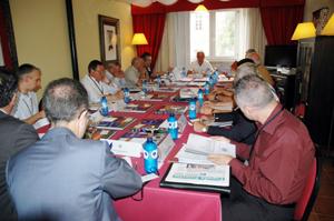 Reunión de la Comisión Delegada celebrada en Santiago de Compostela en agosto de 2010.