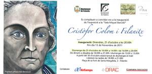 La invitación a la apertura de la exposición.
