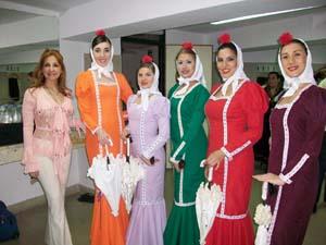 Las madrileñas en el festival.