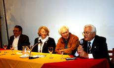 Carlos Barcia, Encarnación Fuentes, Manuel Hernández y Liberio Antelo.