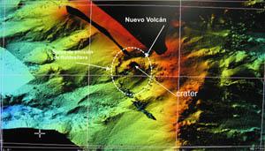Modelo digital del terreno de una vista general del Rift Sur de El Hierro.