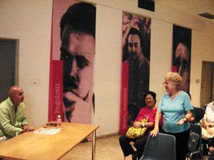La presidenta de la CPC, Elena Llimó Bravo y el conferencista Ortelio Rodríguez Alba.