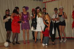 Los andaluces disfrazados para la fiesta.