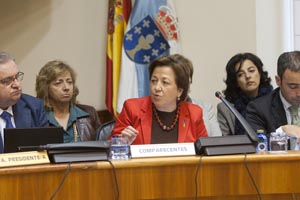La conselleira de Sanidade, Pilar Farjas, anunció la Ley de libre elección de médico.