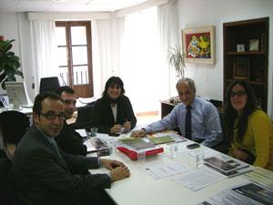 La reunión entre responsables de Baleares y de Valencia.