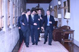 Moreda, Caamaño, Gabilondo y Vázquez en el encuentro que celebraron.