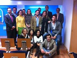 El equipo del PP de Madrid de Emigración.