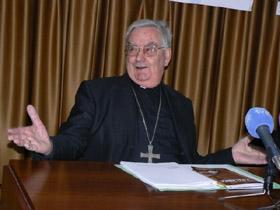 El obispo José Sánchez.