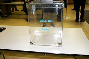 La urna prestada por el Ayuntamiento de París.