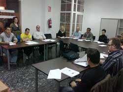 Grupo de estudiantes del curso de inglés.
