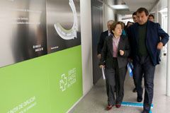 La conselleira de Sanidade, Pilar Farjas, y el conselleiro de Economía e Industria, Javier Guerra, presentaron el plan días antes.