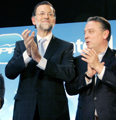 Alfredo Prada con Mariano Rajoy.