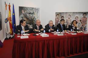 Francisco R. García Fernández, Santiago Camba, José Ramón Ónega, Samuel Bengio y Julio Touza.