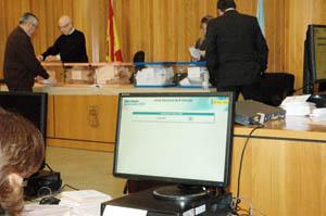 Escrutinio del voto CERA realizado en A Coruña.