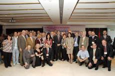 Foto de familia de los miembros del CGCEE en el último pleno del quinto mandato celebrado en Madrid el pasado mes de septiembre.