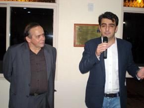 Carlos Ameijeiras y Diego Calvo tras la inauguración.