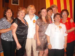 Las integrantes del taller de narración Cuentos y Encuentro.
