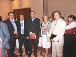 Salvador Galindo de Amara, Martín Marchín Cladera, el ministro Lescano, Rosita Lladó y Joan Guall.