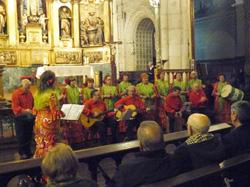 La actuación en el Concierto de Navidad.