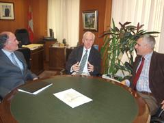 José Herrero con el delegado de la Junta en Palencia, Luis Domingo.