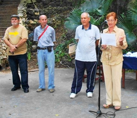 Felipe Cid, Juan L. López, Roberto Ogando y Marina P. García.