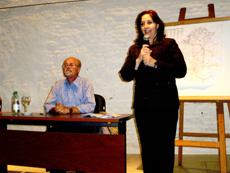 La presidenta del patronato, Ana Lorenzo, y José Monterroso.