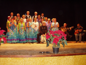 La actuacion del coro de la entidad de Torrevieja.