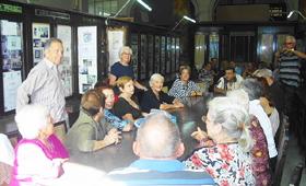 Vista del acto organizado por 'Hijos de Lorenzana'.