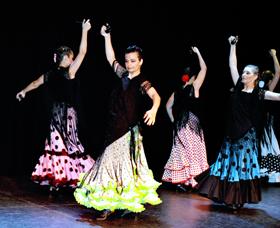 Un momento del espectáculo 'Por Flamenco' organizado por la profesora María Noel.