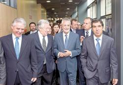 Visita del presidente a la Ciudad de la Justicia de Almería.