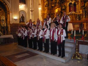 El coro de la asociación.