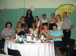 Algunos de los reunidos en la fiesta.