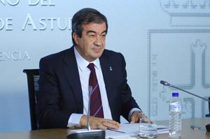 Francisco Álvarez Cascos en la presentación de los Presupuestos Generales del Principado.