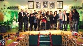 Miembros del grupo 'Sabor Jerez' y de la Peña Al Andalus de Amberes.