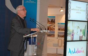 Luciano Alonso en la presentación de la iniciativa.