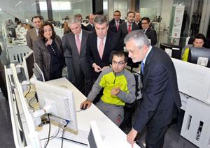 El presidente Griñán inaugura el nuevo edificio en Jaén.