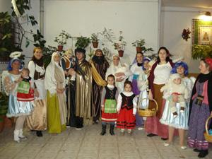 Los Reyes Magos en la sede de la entidad.