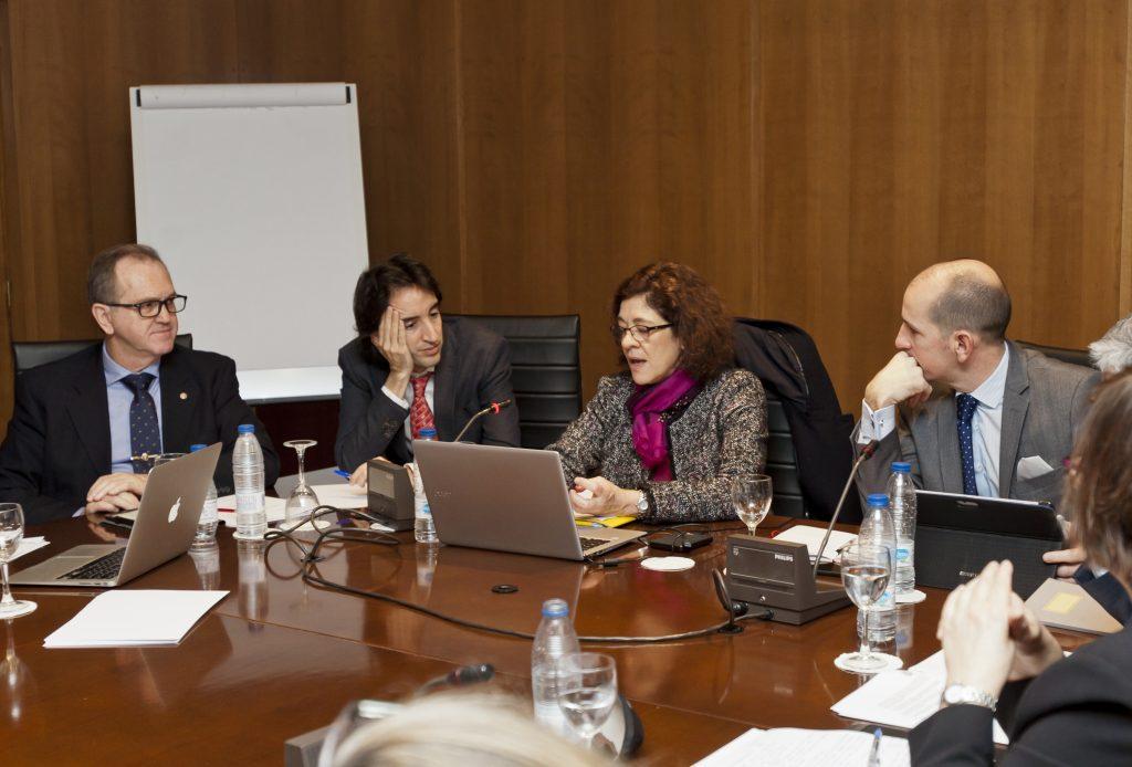 Ana Lourdes de Hériz presidió la reunión de la Comisión de Educación del CGCEE.