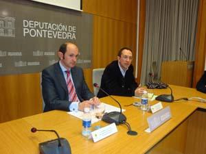 Rafael Louzán (izquierda), en una comparecencia reciente.