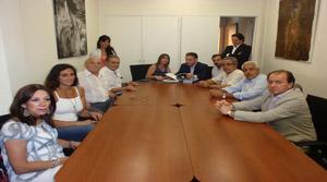 Alfredo Prada fue recibido por Julia Hernando y miembros de la Federación.
