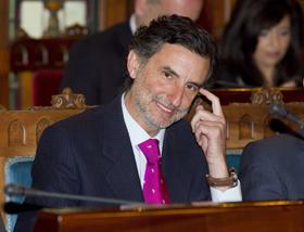 El consejero Florentino Alonso en la presentación de los presupuestos de su departamento.