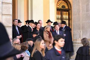 Autoridades y miembros de la Cofradía del Botillo.