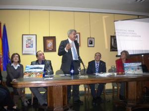 El presidente del Congreso, Jesús Posada, durante el acto en la Casa de Soria en Madrid.
