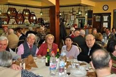 Un momento de la cena de homenaje a los mayores.