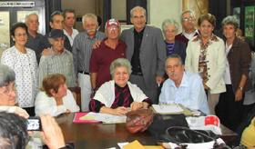La nueva directiva de 'Hijos de La Estrada' en La Habana.