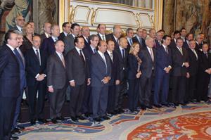 Foto de grupo de los asistentes al encuentro.