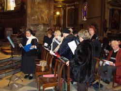 La actuación fue en el interior de la catedral.