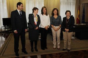 Ana Mato junto a Beatriz Mato, Rocío Mosquera y Pilar Farjas.